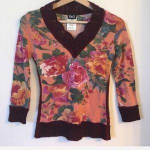 Dolce & Gabbana   floral sweater top